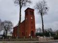 Zegar na wieży w Kościele w Skórce